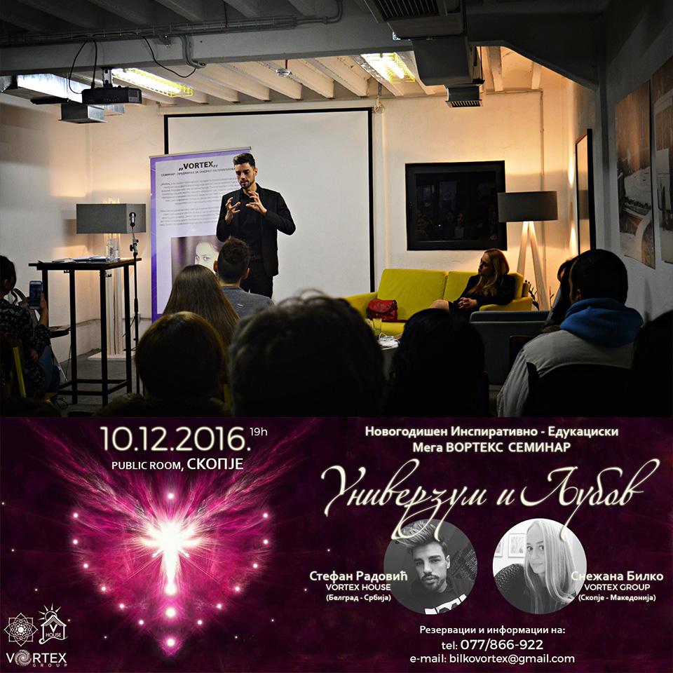 "Seminar ""UNIVERZUM I LJUBAV"" – Skoplje"