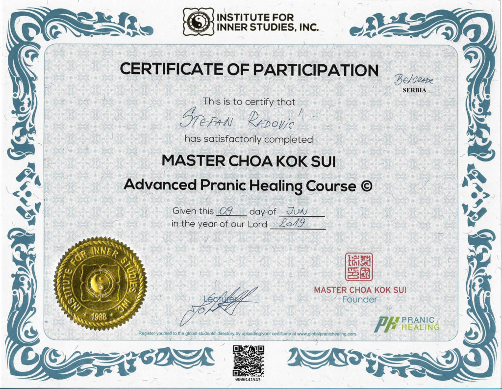 ADVANCED Pranic Healing Course