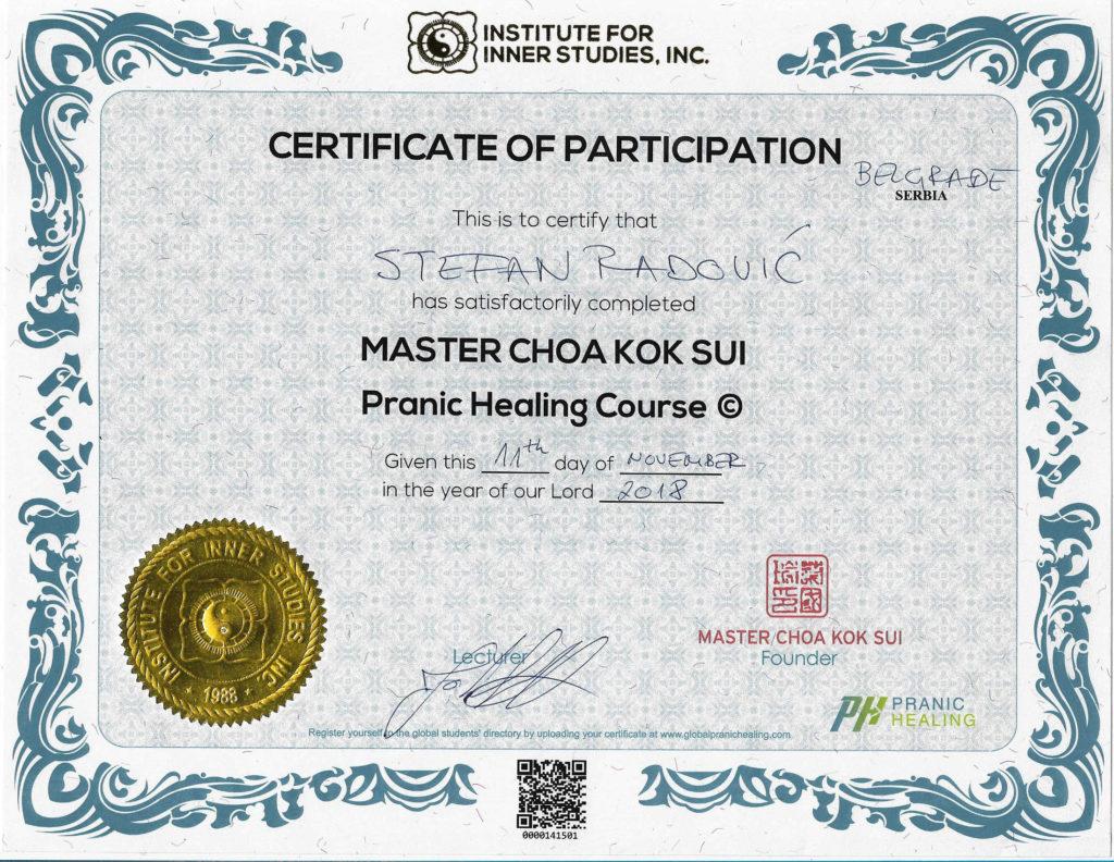 Pranic Healing Course – Master Choa Kok Sui